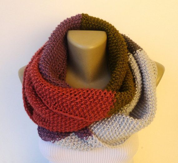 Dr Who Style Scarf Knit Colorful Infinity Scarf Knit