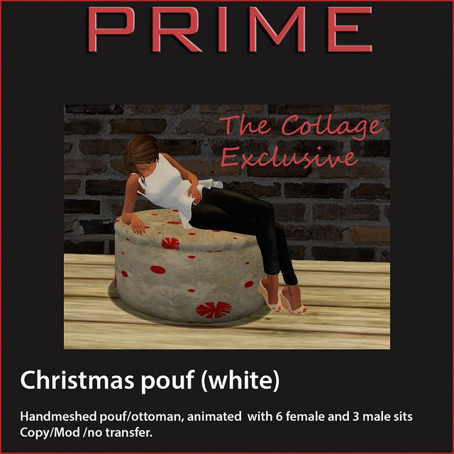 Christmas Pouf white by PRIME The Collage Exclusive | Flickr - Photo Sharing!