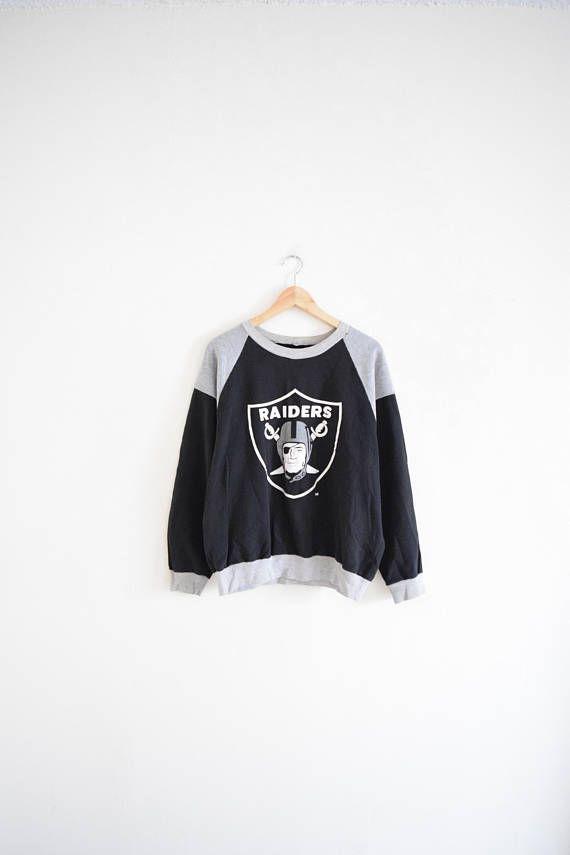 RAIDERS NFL SWEATSHIRT size large 90s pullover