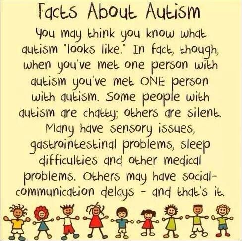 Autism Awareness..  EVERY CHILD IS DIFFERENT!! Every child learns differently!!
