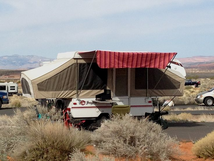 Homemade Awning On A Tent Trailer From Starling Travel