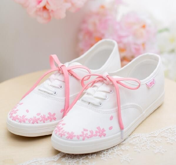 Sakura Hand-painted Sneakers