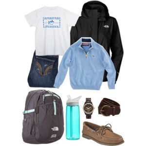 vineyard vines, southern tide, hollister, sperrys and the north face