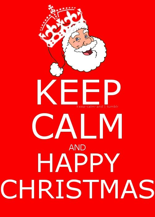 Keep Calm ( Merry Christmas) not happy christmas that sounds weird