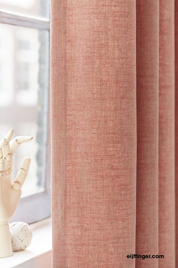 Eijffinger #gordijn Livia in apricot kleur. #inspiratie #gordijnen #curtain
