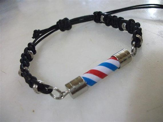 Barber Pole Friendship Bracelet For Man. Barber Pole Knot by neduk, $20.00