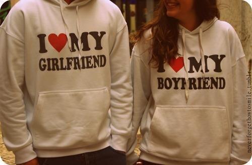 So freaking cute. Boyfriend & Girlfriend sweat shirts. <3