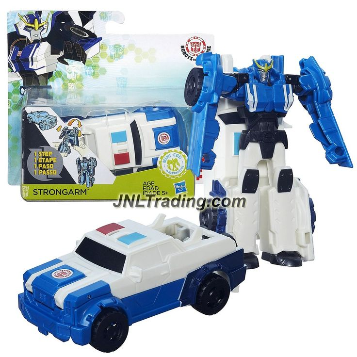 Hasbro Year 2015 Transformers Robots in Disguise Animation Series One Step Changer 5 Inch Tall Figure - STRONGARM (Vehicle: Police Car)