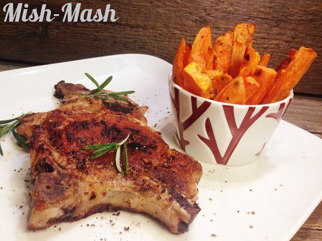 Mish-Mash: Свински котлети с розмарин и печени батати
