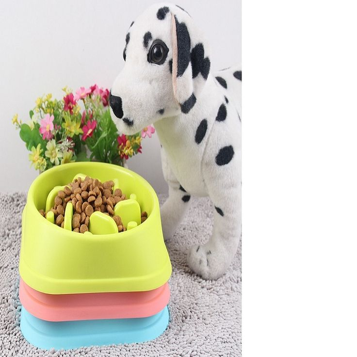 TAILUP Big Size Collapsible Dog Bowl Prevent choke For Big Dog Eat Slowly Plastic material  For Your Pet Healthy Pet food bowls