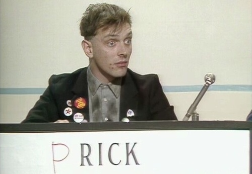 """Ok representing Scumbag is Mike,Vyvyan, Prick and Neil"" really love this programme"