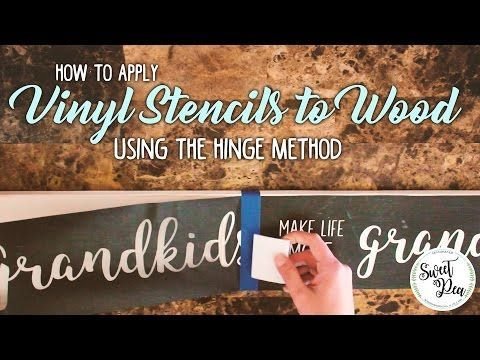 How to Seal Vinyl Stencils: Paint Wood Signs with Stained Backgrounds - YouTube