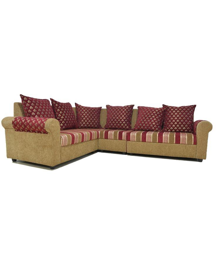 Westido Red 2 2 Corner Sofa With 6 Cushions, http://www.snapdeal.com/product/westido-red-22-corner-sofa/639834678460