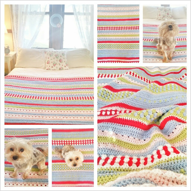 Greengate Blanket she has a link to the pattern which is in Swedish but can be translated with google translate