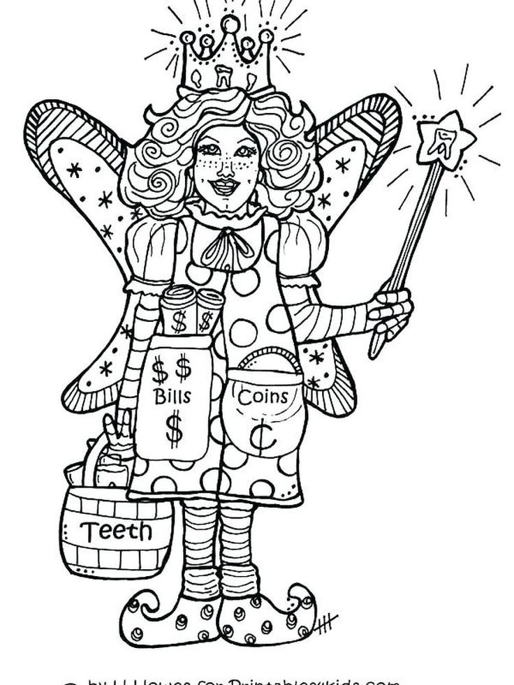 Fairy Tale Characters | Fairy coloring pages, Fairy ...