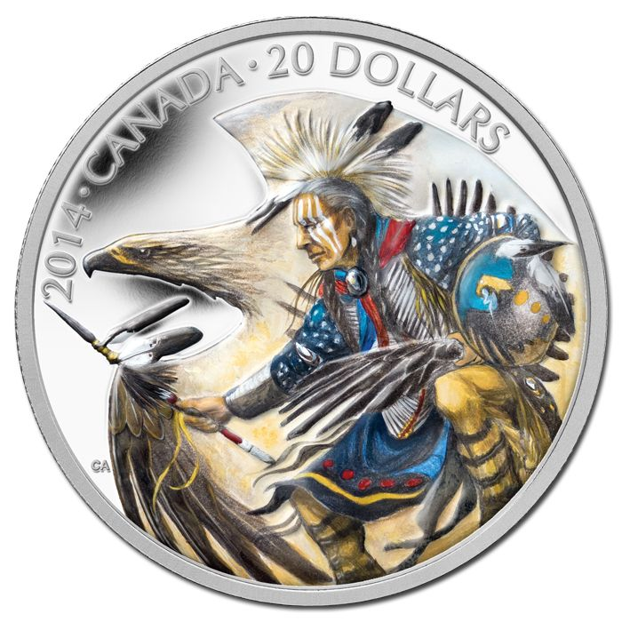 Canada 2014 $20 Legend Of Nanaboozhoo Coloured Silver Coin
