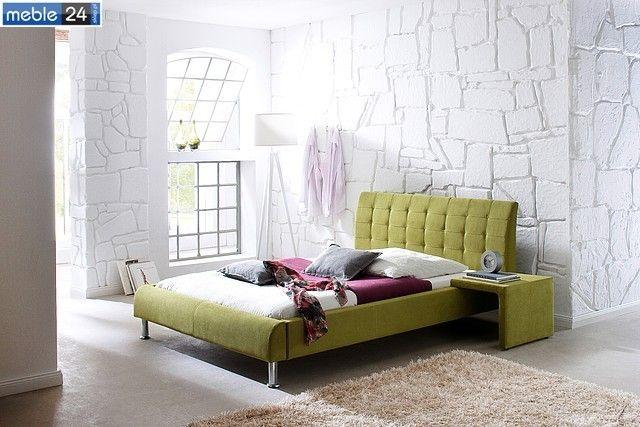 BED FILIP 140 160 cm materiał  antracyt zielony