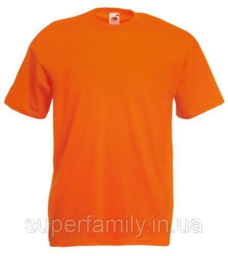 Оранжевая футболка хлопок 100