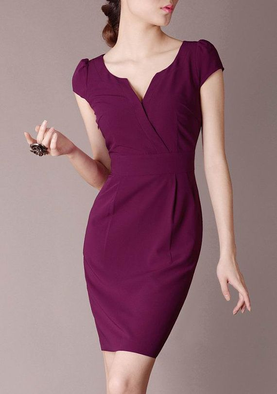 British Style Formal Dress Elegant Graceful Evening Dress Sexy V neck Pleated Solid Burgundy OL Suits S-XXL