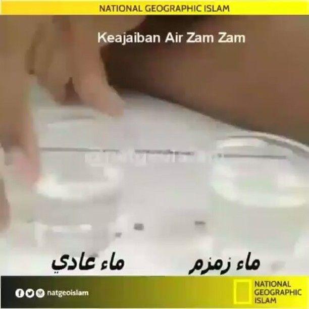 #Repost from @natgeoislam ... Ajaibnya Zam Zam . @natgeoislam . Hasil penyelidikan sampel air di Eropa dan Arab Saudi menunjukkan bahawa air zam-zam mengandungi zat fluorida yang ada daya efektif membunuh kuman sama seperti sudah mengandungi obat.  Lalu perbezaan air zam-zam dibandingkan dengan air telaga lain di Mekah dan sekitar Arab adalah dalam hal kuantitas kalsium dan garam magnesium.  Kandungan kedua-kedua mineral itu sedikit lebih banyak pada air zam-zam mungkin sebab itulah air…