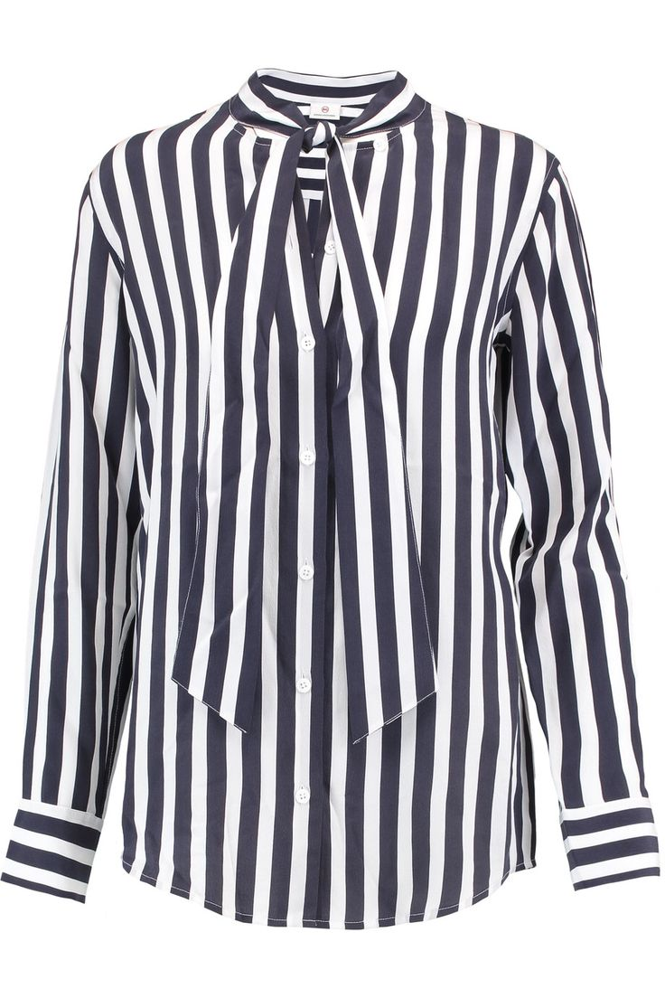 AG JEANS ARLEY STRIPED SILK SHIRT GBP123.75 http://www.theoutnet.com/product/1021475