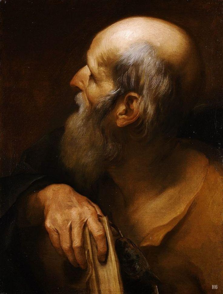 Saint Andrew. 1631. Andrea Sacchi. Italian. 1599-1661. oil on canvas. http://hadrian6.tumblr.com