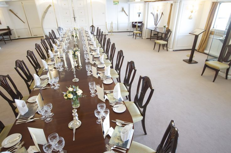 The dining room aboard the Royal Yacht Britannia, carpeted throughout with Westex Carpets Pure Luxury 100% wool range.