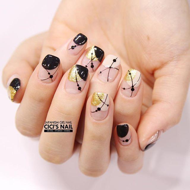 Artistic and minimalist nail art