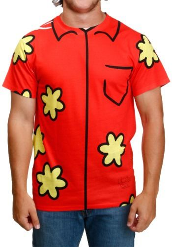 """This Family Guy Quagmire Costume T-Shirt lets you become the Seth MacFarlane character. You'll be shouting, """"Giggity,"""" all day like a boss!"""