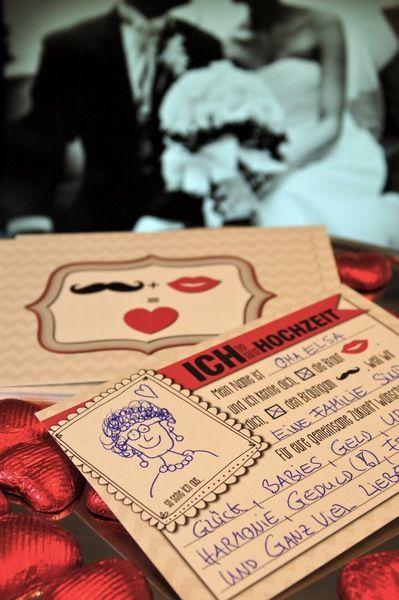 Hochzeitsgästebuch - GÄSTEBUCH KARTEN...für die Hochzeit als Gästebuch - ein Designerstück von KleineFabrik bei DaWanda