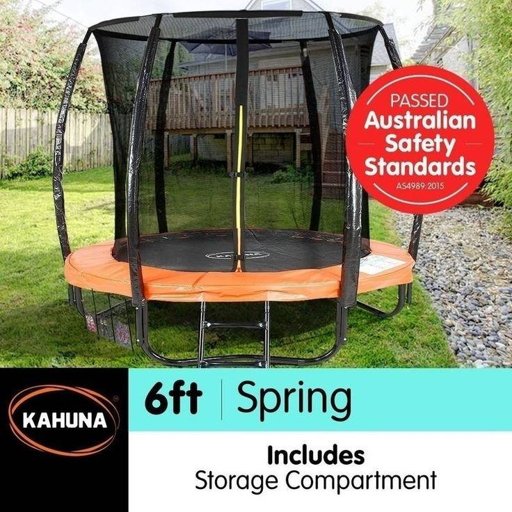 Kahuna 6ft Trampoline with Net Enclosure in Orange | Buy 6ft Trampoline