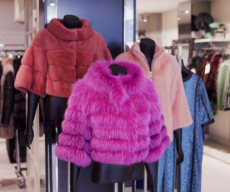 Colorful fur coat at ADAMOFUR store #fur #luxury #shopping #Istanbul #furfashion #furstyle