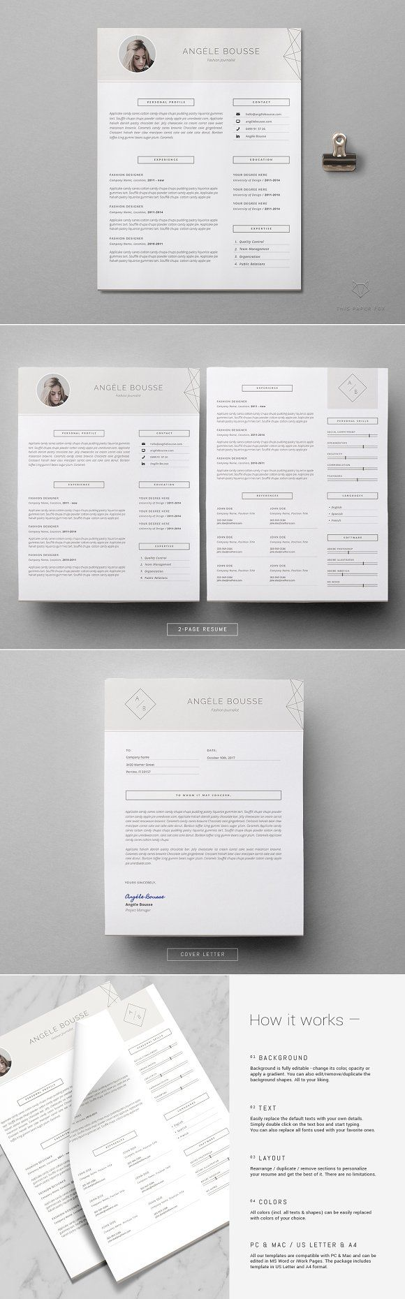 Stylish Resume Template Angle The 134