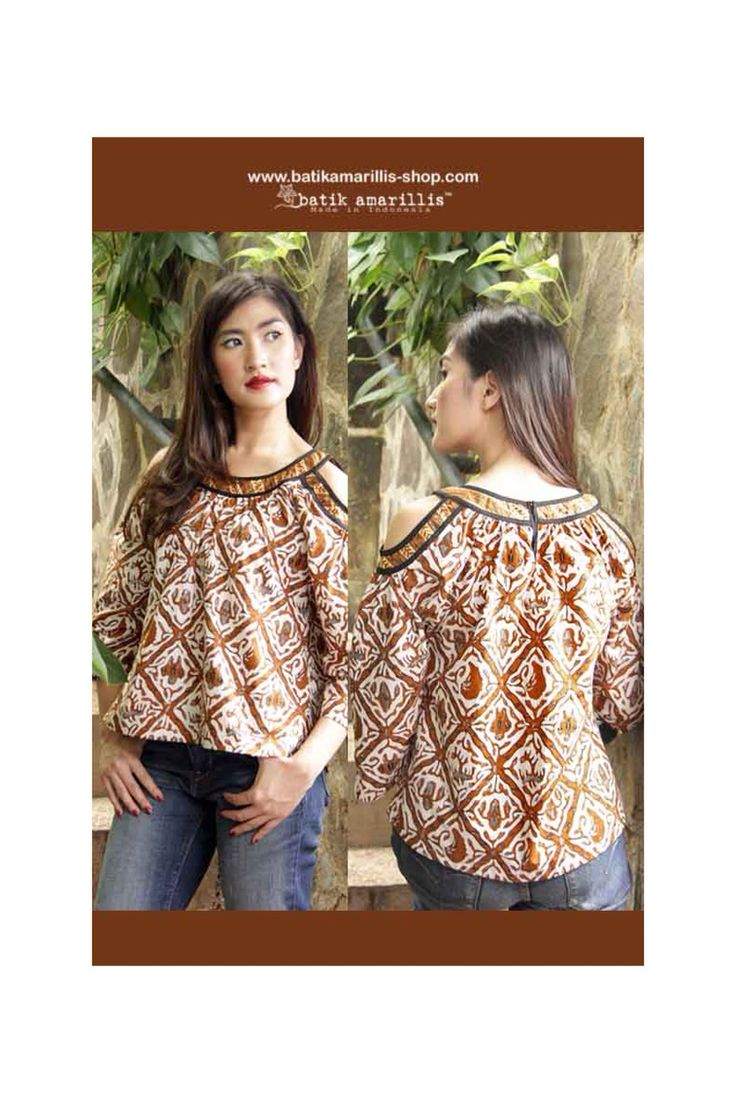 Batik Amarillis webstore :www.batikamarillis-shop.com batik amarillis's painter's blouse 2-revamped More comfy, sweet, unique & romantic blouse with slit sleeve.
