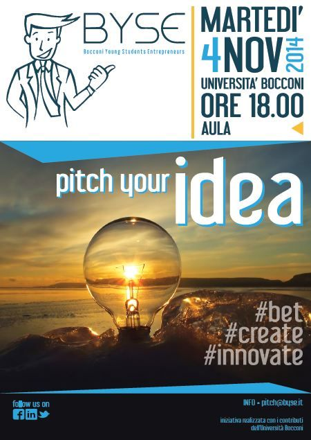 "Locandina ""Pitch Your Idea"""