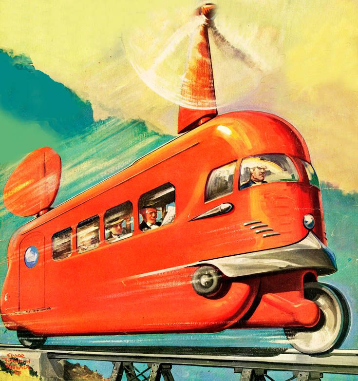 Gunther Radtke illustration.  Spaceship, pulp retro futurism back to the future tomorrow tomorrowland space planet age sci-fi airship steampunk dieselpunk