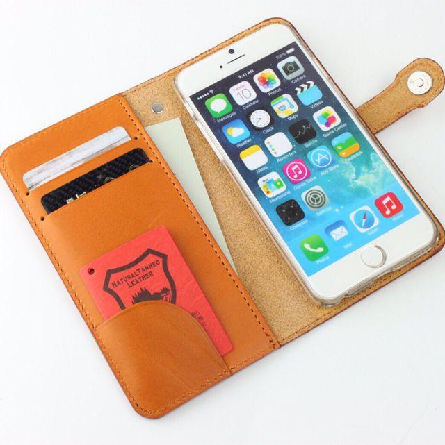 8色 栃木レザー ジーンズ 手帳型 スマホケース ほぼ 全機種対応 スマートフォンケース ヌメ革