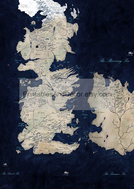 image relating to Game of Thrones Printable Map identified as Pin upon Received Exciting!