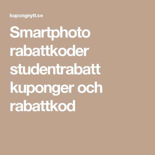 Smartphoto rabattkoder studentrabatt kuponger och rabattkod
