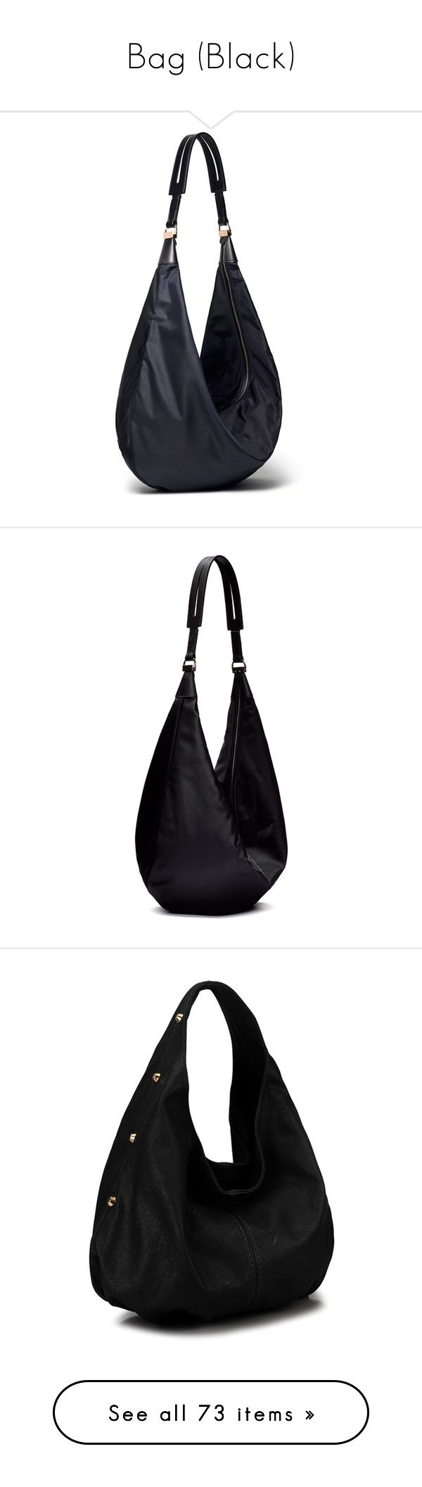 """""""Bag (Black)"""" by sunnyia ❤ liked on Polyvore featuring bags, handbags, shoulder bags, purses, navy, nylon shoulder bag, blue purse, navy blue purse, hand bags and navy blue shoulder bag"""