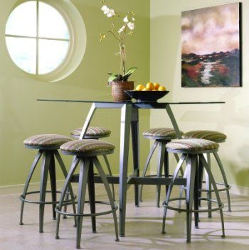 Johnston Casuals Stiletto Contemporary Tall Pub Set Available At  Dinetteonline.com