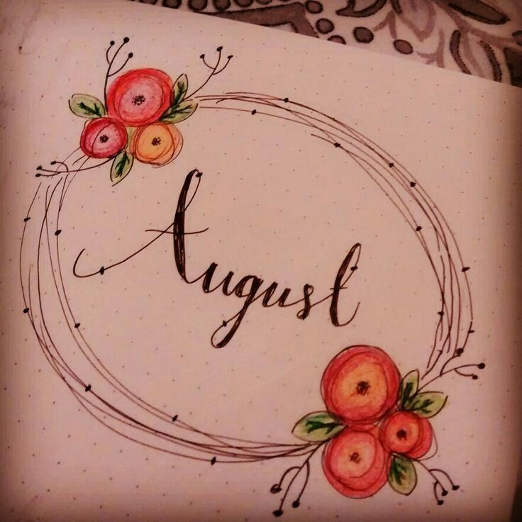 This is an easy way to make pretty flowers.  August monthly.
