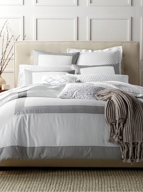 charter club damask designs colorblock dove bedding collection created for macyu0027s king duvet setduvet