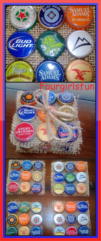 Craftshout0112 beer cap coasters