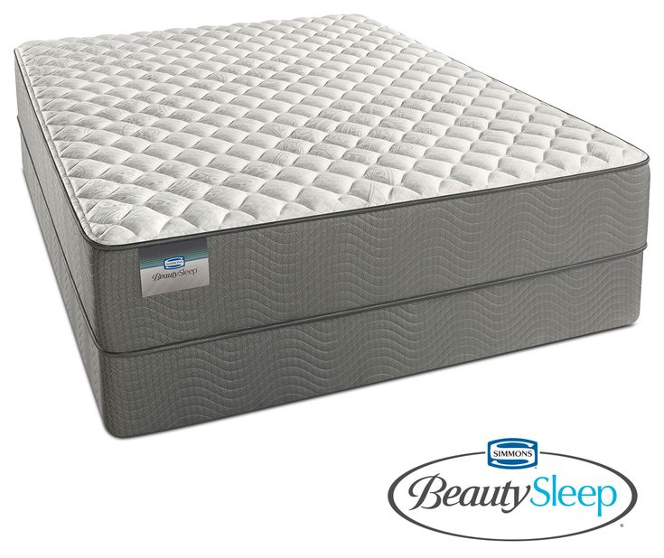 Alpine White Firm King Mattress And Split Low-Profile Foundation Set