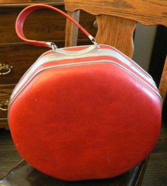 vintage Luggage...Rare RED OCTAGON vintage by LandLockedCottage, $75.00
