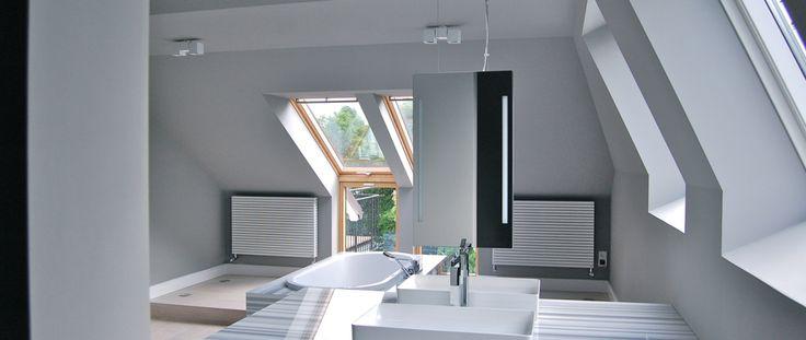 Karen Schwichtenberg Architekt Hamburg Dachgeschossausbau Sanierung Waschtisch