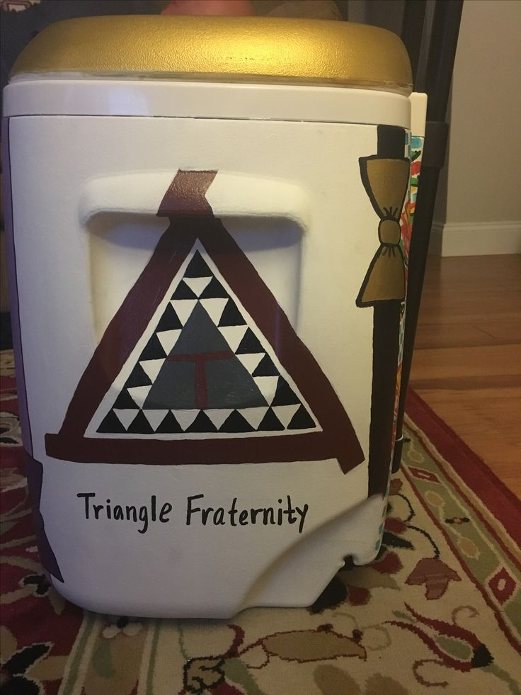 Triangle Fraternity Side of Cooler