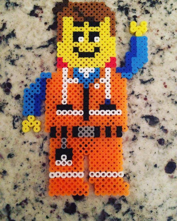 Emmet - The Lego Movie perler beads by beadartyyc                                                                                                                                                                                 More