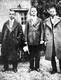 """3 of the original founders """"Jewels"""" of Alpha Phi Alpha (1906) at the 1927 General Convention in Chicago, IL  Left to Right:  Jewel Brother George Biddle Kelley, Jewel Brother Nathaniel Allison Murray and Jewel Brother Henry Arthur Callis"""